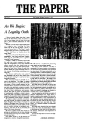 The Paper Vol. I No. 1 — Dec. 3, 1965