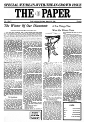 The Paper Vol. I No. 9 — Mar. 28, 1966