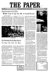 The Paper Vol. I No. 13 — Apr. 28, 1966